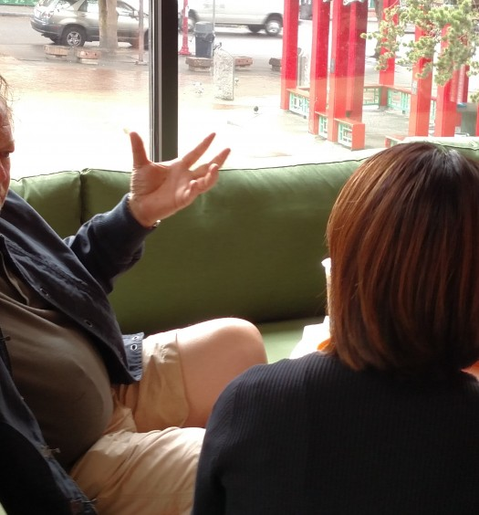 Tom Douglas talks to Ethnic Seattle's Taylor Hoang at Hing Hay Coworks.