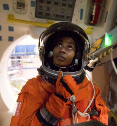 Stephanie Wilson, second African-American female to go to space. Image from Museum of Flight website