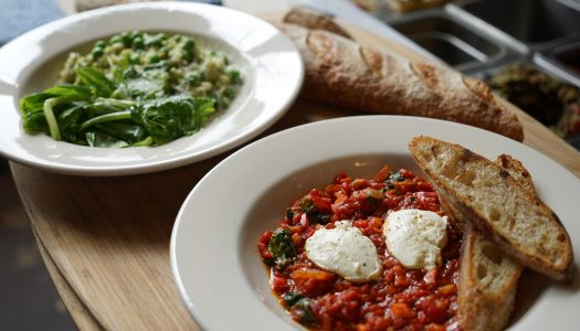 Spring Recipes: English Pea Risotto and Shakshuka with Marjorie Restaurant