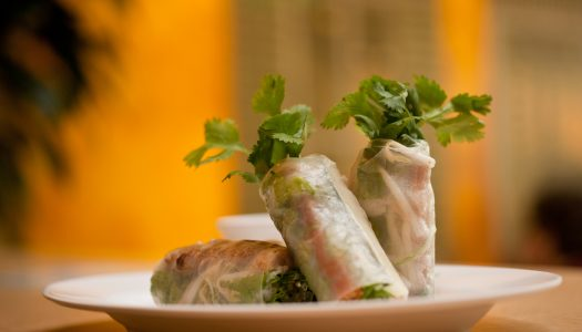 Recipe Alert: Ginger and Pork–Stuffed Salmon Spring Roll
