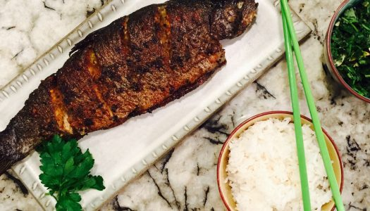 Ethnic Eats: Pan Seared Spicy Lemongrass Rainbow Trout